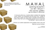 Mahal Art Exhibit Poster