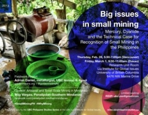Big Issues in Small Mining: Mercury, Cyanide and the Technical Case for Recognition of Small Mining in the Philippines