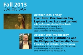 Fall 2013 Calendar of Events