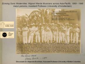 Lecture Presentation: Echoing Sonic Modernities – Migrant Manila Musicians across Asia – Pacific, 1869 – 1948