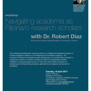 Apr 18: Navigating academia as Filipina/o researchscholars