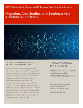 April 20 Round Table: Migration and Southeast Asia