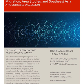 April 20 Round Table: Migration and SoutheastAsia